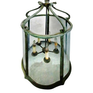 Bronze Hanging Candle Light Fixture For Sale