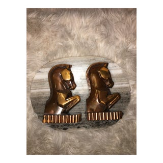 Trojan Brass Champion Products Bookends - a Pair For Sale