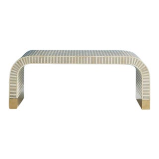 Anthropologie Modern Bone Inlay Cofee Table For Sale