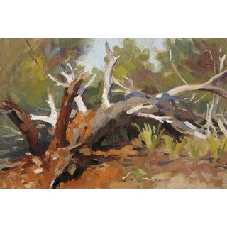 """Pöyhönen Framed Oil Painting, """"Fallen Pine"""", 15.5 X 11.5 In. Frame For Sale"""