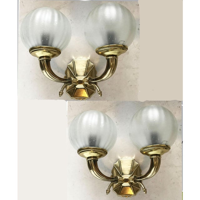 Bronze Vintage French Bronze Sconces - a Pair For Sale - Image 7 of 7