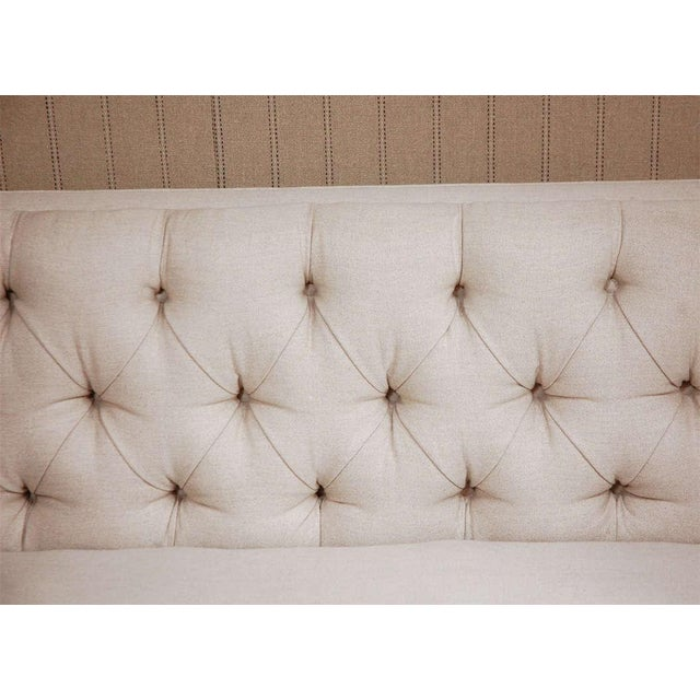 """""""Tatum"""" by Lee Stanton William IV Style Tufted Sofa For Sale - Image 4 of 6"""