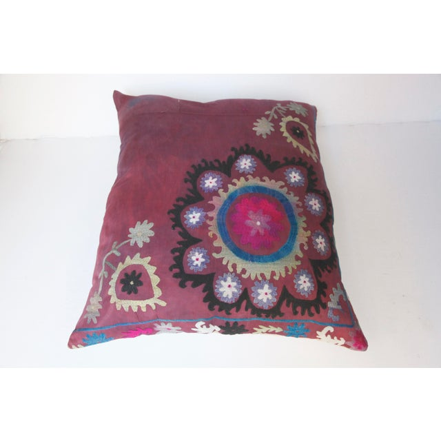 Vintage Suzani Sofa Throw Pillow Cover For Sale - Image 9 of 11