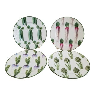 A. Raynaud & Co. Limoges Villandry Legumes Salad Plates - Set of 4 For Sale