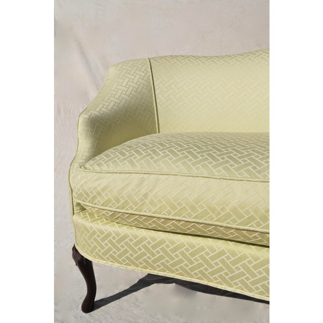 Curved Camel Back Demi Settee For Sale - Image 9 of 14