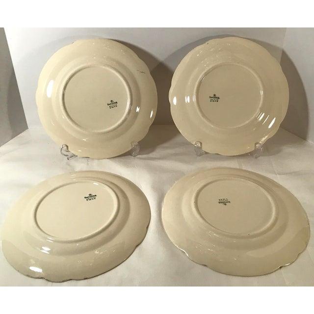Vintage Homer Laughlin Ivory Floral Dinner Plates - Set of 4 For Sale In Dallas - Image 6 of 9