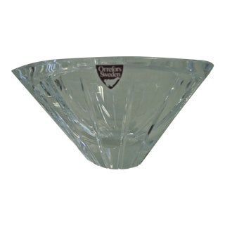 1980s Orrefors Marin Crystal Bowl For Sale