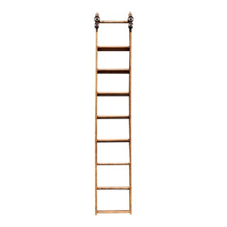 19th Century Antique American Library Ladder For Sale