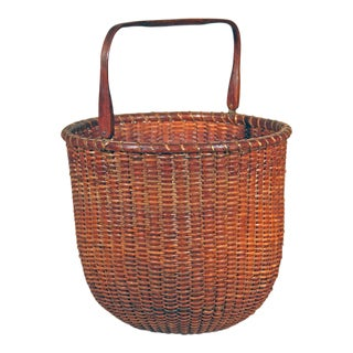 Rare Tall Lightship Basket with Handle