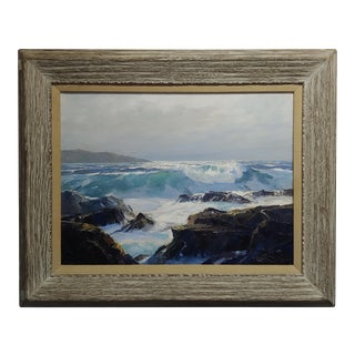 Bennett Bradbury -Laguna Rocky Seascape-Beautiful California Oil Painting For Sale