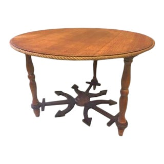 Vintage French Rope Table With a Nautical Theme For Sale