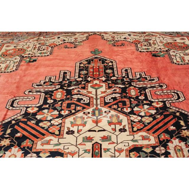 Large Vintage Persian Silk Heriz Rug - 13′1″ × 19′ For Sale In New York - Image 6 of 11