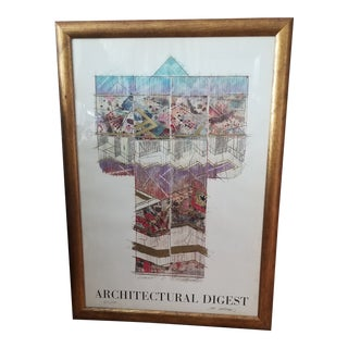 1980s Architectural Digest R. Gatsumi Signed & Numbered Lithograph For Sale