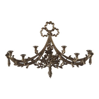 1970s Vintage Syroco Hollywood Regency Ornate Gold Wall Sconce Candle Holder For Sale