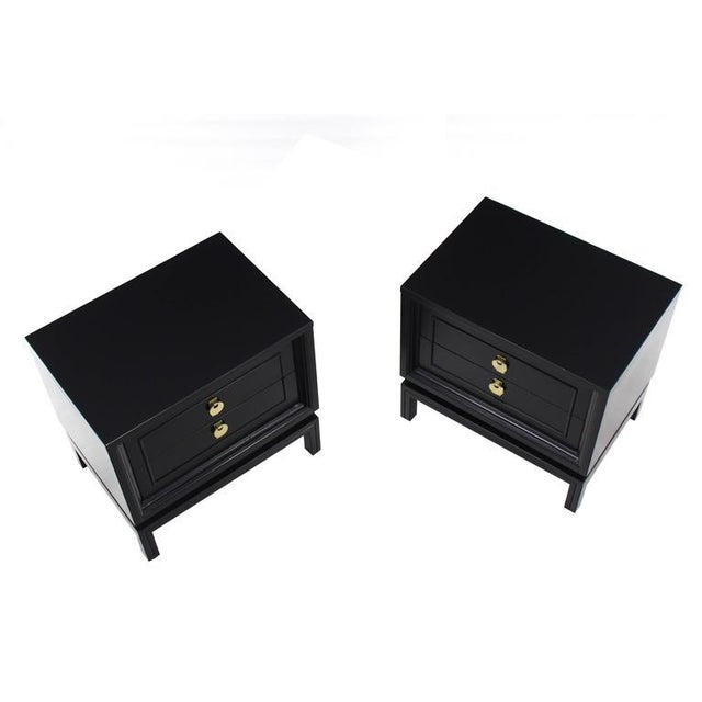 Pair of very nice mid-century modern nightstands. Made in the early 20th century.