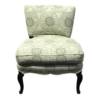 Newly Upholstered Traditional Slipper Chair For Sale