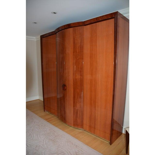 Dakota Jackson Custom Heraldic Bowfront Cabinet For Sale - Image 11 of 11