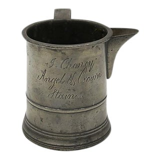 17th-C English Pewter Pub Ale Measure