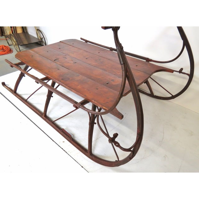 Lodge Primitive Style Sled For Sale - Image 3 of 3