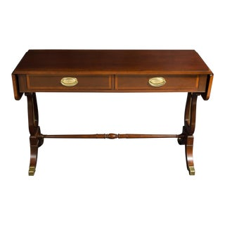 20th Century Traditional Baker Dropleaf Hall or Sofa Table For Sale