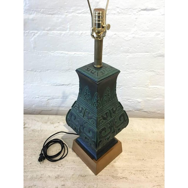 Bronze Table Lamps in the Manner of James Mont - A Pair - Image 6 of 9