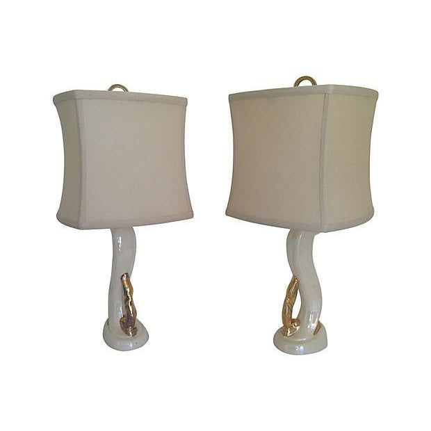 1950s 1950s Aladdin Boudoir Lamps - a Pair For Sale - Image 5 of 7