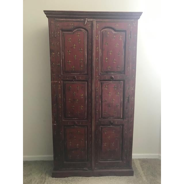 Red 1990s Red Indian Cabinet For Sale - Image 8 of 8