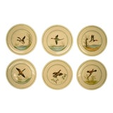 Image of Cyril Gorainoff Gamebird Plates - Set of 6 For Sale