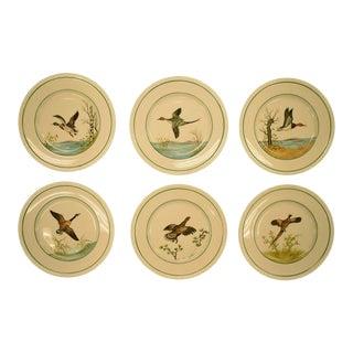Cyril Gorainoff Gamebird Plates - Set of 6 For Sale