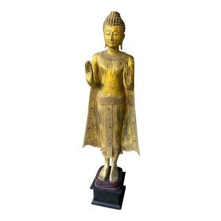 Thailand Standing Buddha/Gwen Yin on Pedestal For Sale