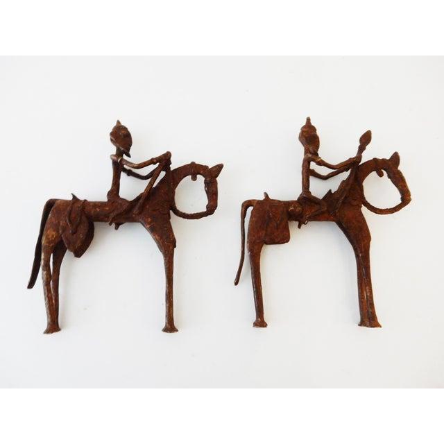 African Dogon Bronze Horseman Mali - Pair - Image 4 of 10
