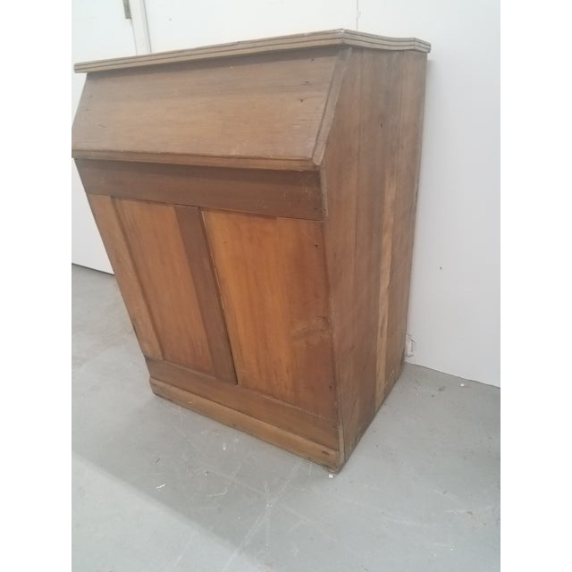 English Antique Coffee Bin For Sale - Image 3 of 13