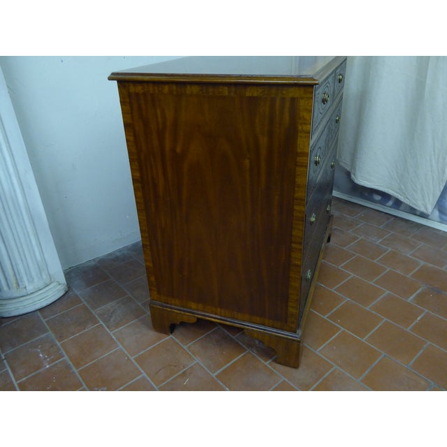 20th Century Maitland Smith Leather Clad Chest Drawers For Sale In Boston - Image 6 of 9