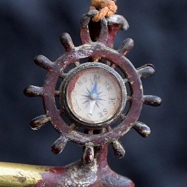 Metal 19th Century Votive Copper Sea Vessel For Sale - Image 7 of 13