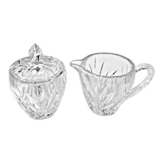 "Gorham Crystal ""Star Blossom"" Sugar & Creamer Set - 2 Pieces For Sale"