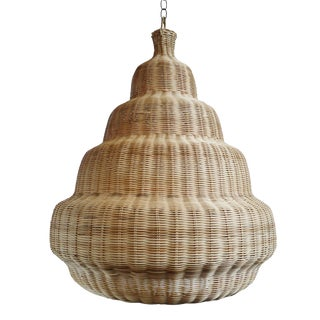 Rattan Madras Lantern Large For Sale
