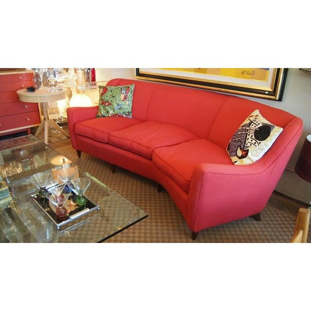 Mid-Century Modern Italian Red Sofa - Image 2 of 3