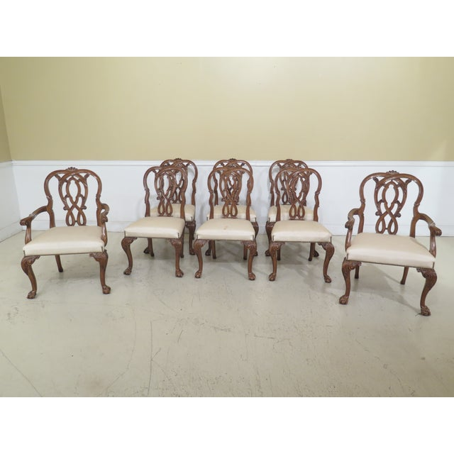 1990s Vintage Karges Georgian Style Ball & Claw Dining Room Chairs- Set of 8 For Sale - Image 13 of 13