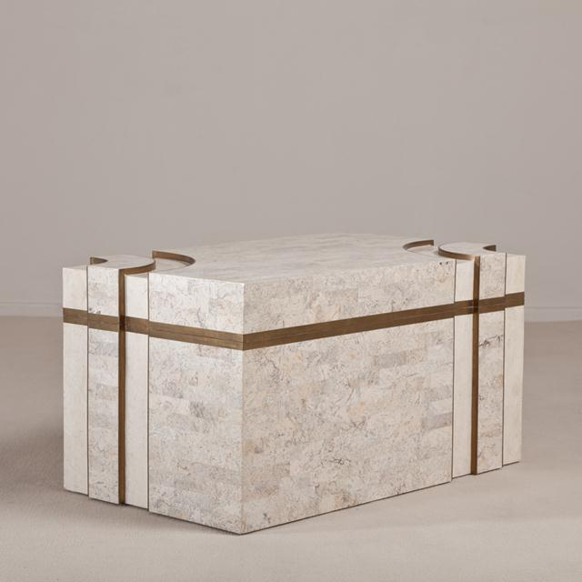 A Superb Rare Tessellated Stone Robert Marcius Chest 1980s For Sale - Image 6 of 6