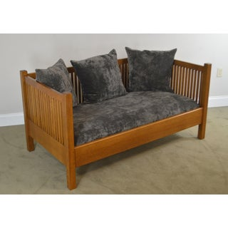 Stickley Mission Oak Collection Oak Spindle Loveseat Preview