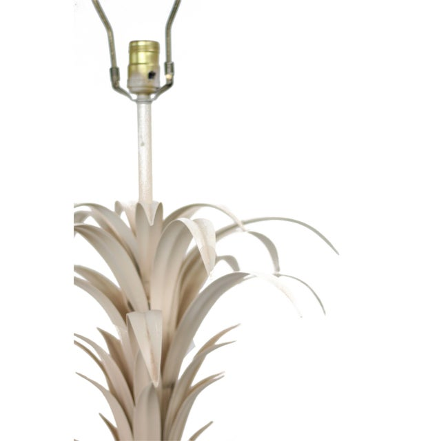 Large Tole Table Lamp with Rope Shade - Image 6 of 10