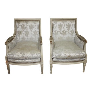 19th Century French Bergere Chairs - a Pair For Sale