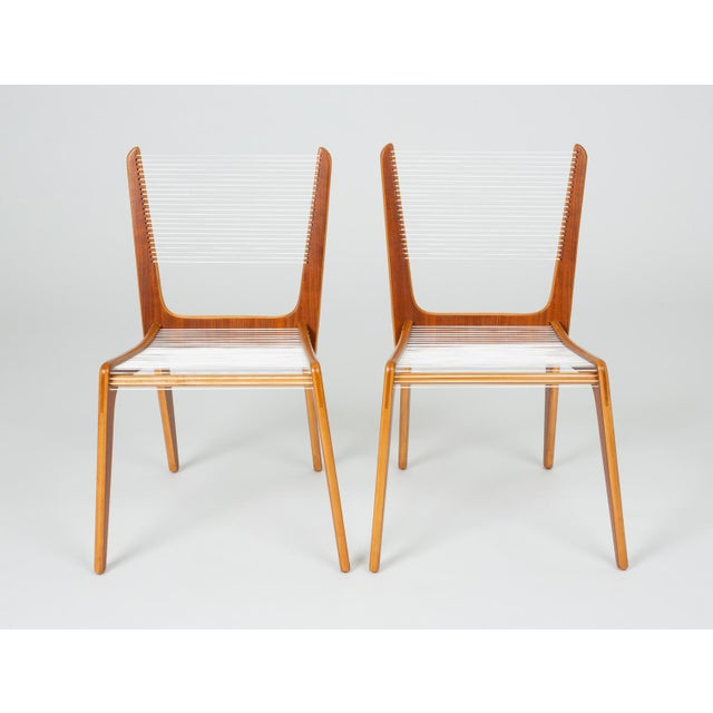 Pair of Canadian Modernist Cord Chairs by Jacques Guillon For Sale - Image 12 of 13