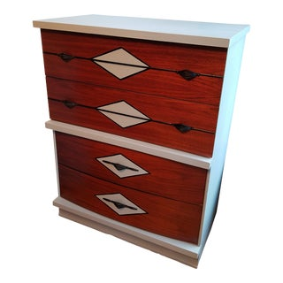 Harmony House Mid Century Modern Bureau Refinished in Chalk Paint For Sale
