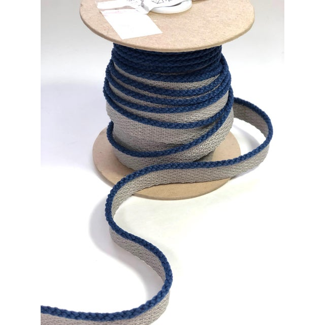 """Contemporary Cabled 1/8"""" Indoor/Outdoor Blue Cord Trim For Sale - Image 3 of 9"""