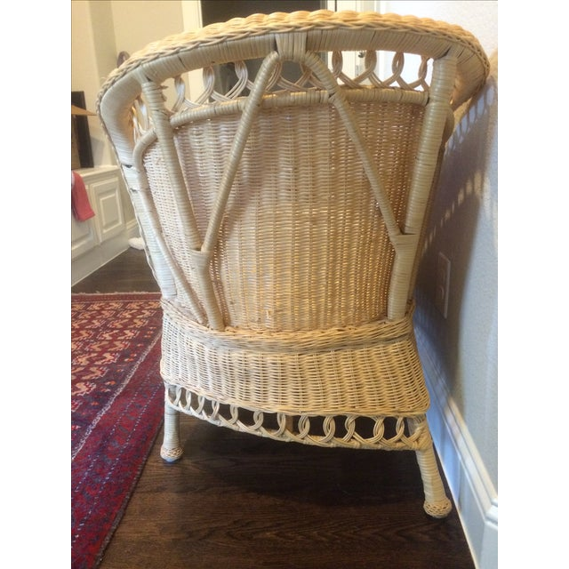 Vintage Wicker Chaise Lounge - Image 7 of 9