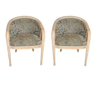 French Provincial Barrelback Chairs - A Pair