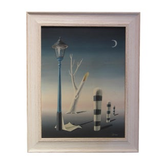 Vintage Surrealist Painting by Norman Black