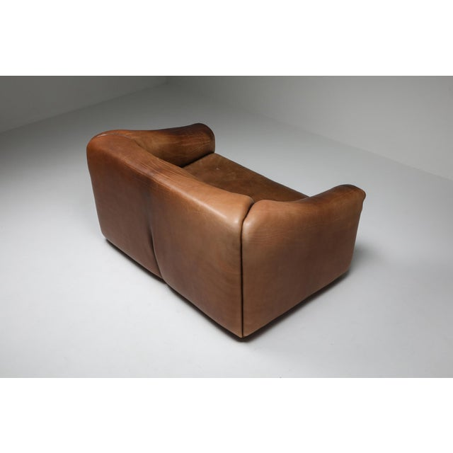 1970s 1970s De Sede Ds 47 Brown Leather Sofa For Sale - Image 5 of 9