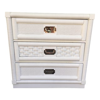 Lacquered Dixie Wicker Weave Dresser